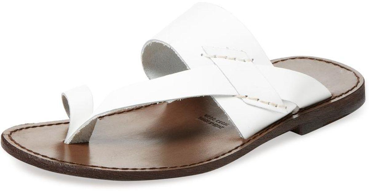 7d2d8069ea9 Lyst - Miramare Italia Toe Ring Thong Sandal in White