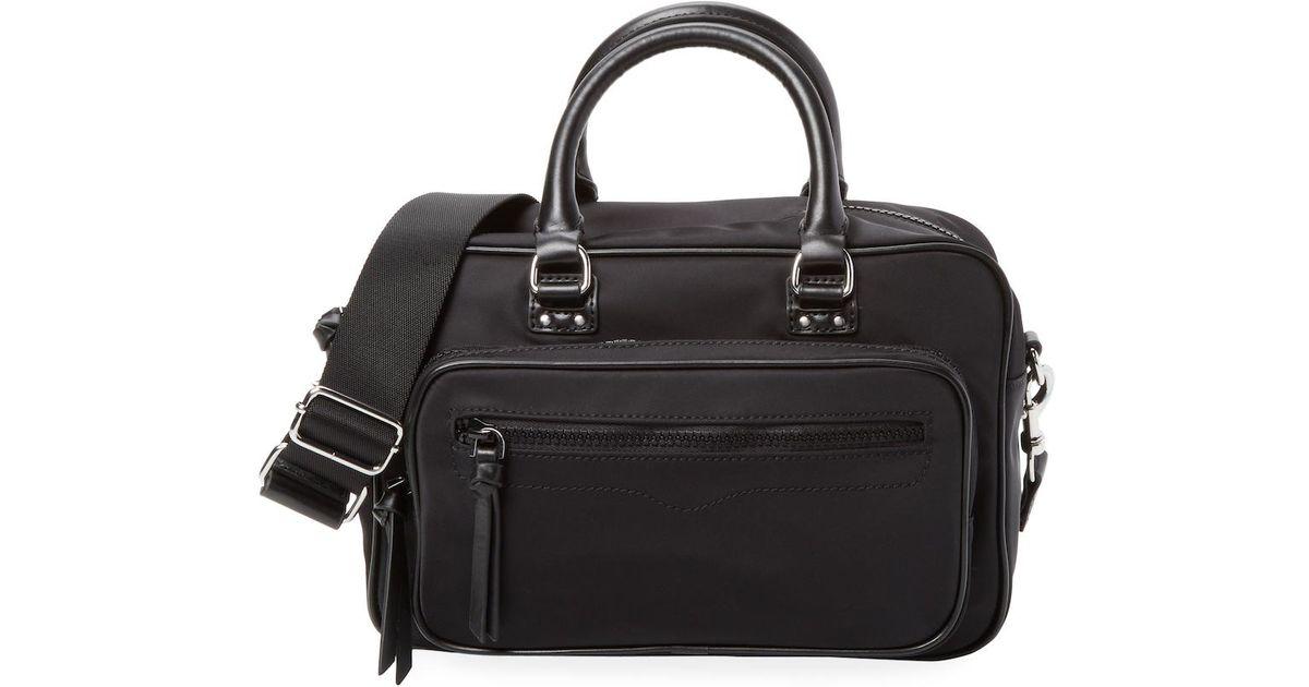 d92f39cd3 Lyst - Rebecca Minkoff Solstice Duffel Bag in Black