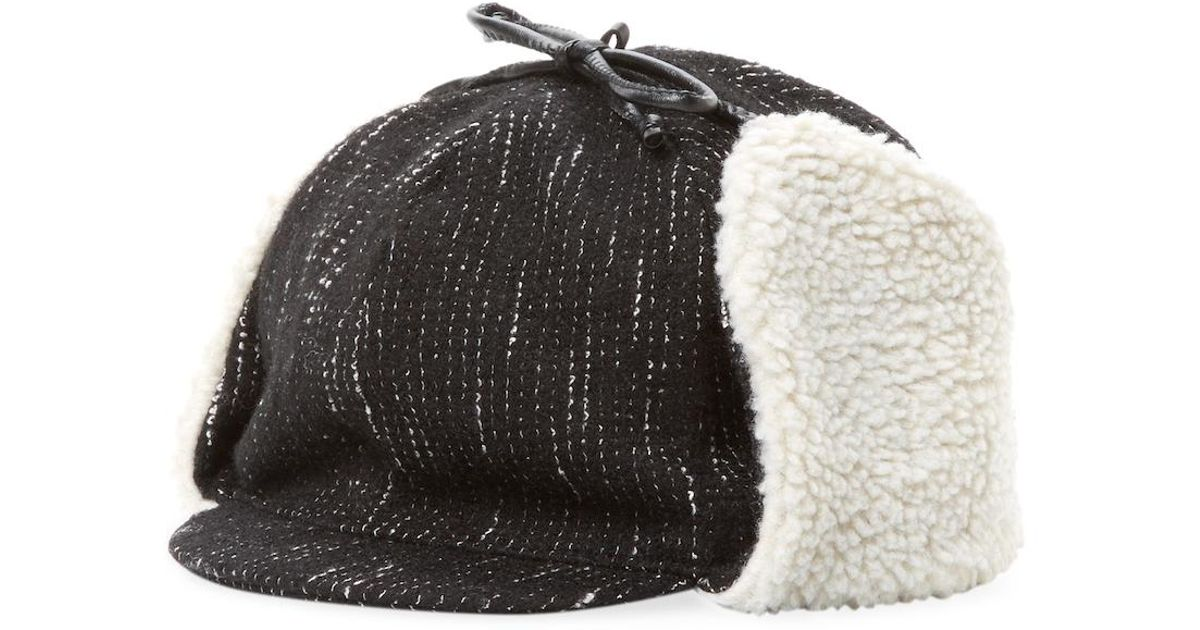 f8b90f601 Genie by Eugenia Kim - Black Leighton Wool Trapper Hat - Lyst