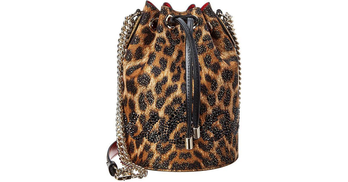 f1bbd3167e5 Christian Louboutin - Black Marie Jane Lurex & Leather Bucket Bag - Lyst