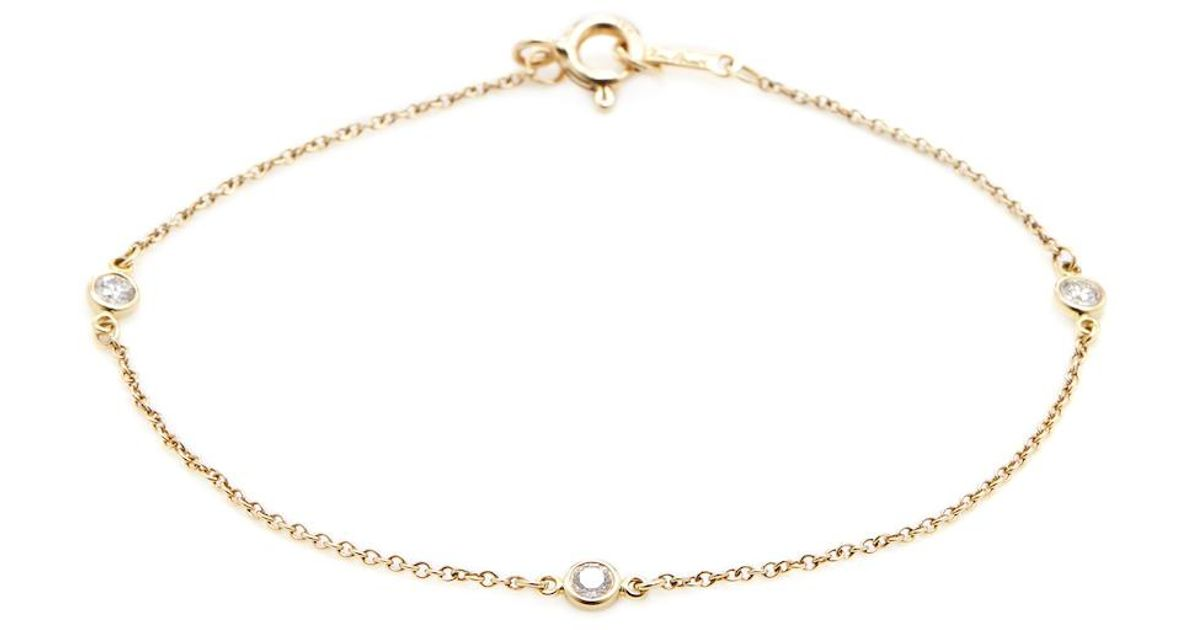 Tiffany & co Vintage 18k Yellow Gold & Diamond Bracelet in