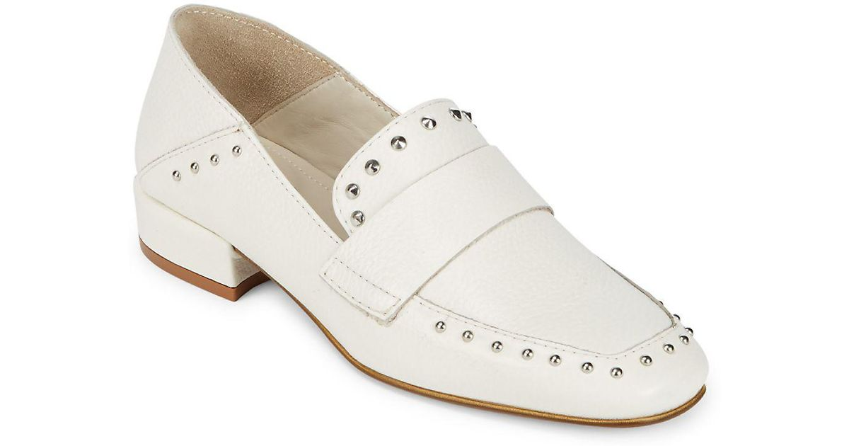 1f7c1f58ce2 Lyst - Kenneth Cole Bowan Leather Slip-on Loafers in White