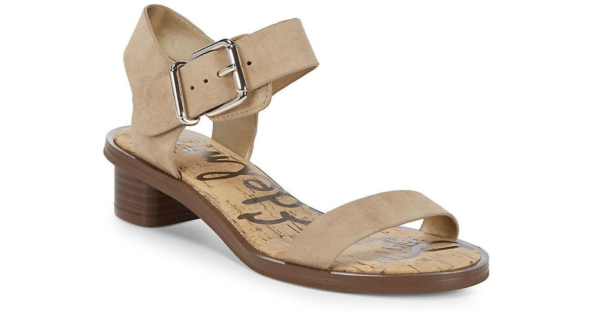 ea346f500 Lyst - Sam Edelman Trina Heeled Leather Open Toe Sandals in Black