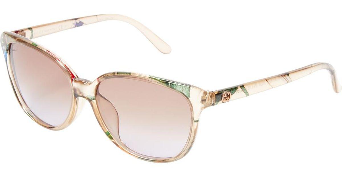 1f79899209 Lyst - Gucci Gradient Cat Eye Frame