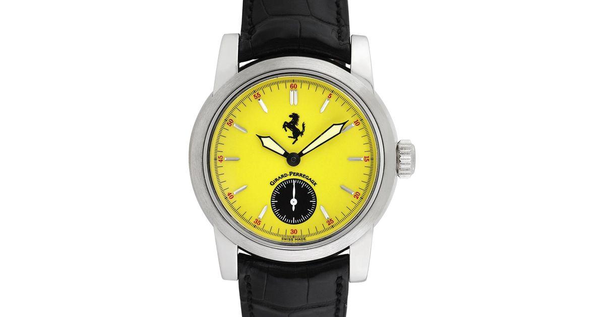 mens pkbestbuy s fxx accented dial watch silicone product black ferrari men yellow