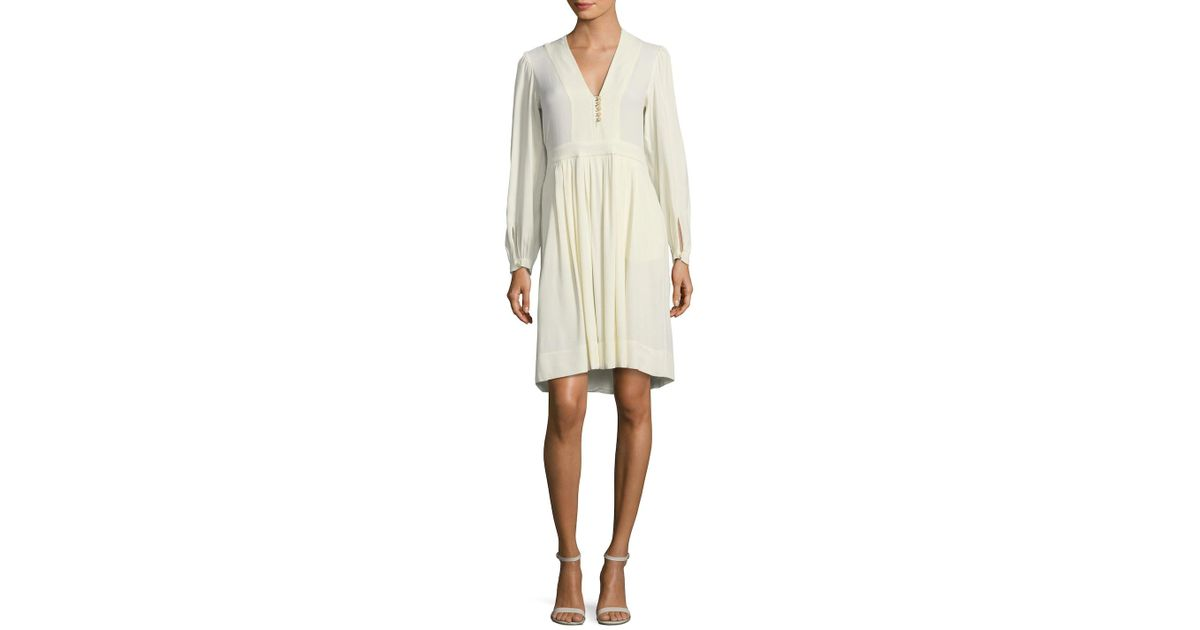 4110d80c3c Isabel Marant Neil A-line Dress in Natural - Lyst