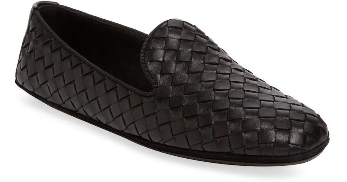 acac9995aa5 Lyst - Bottega Veneta Fiandra Intrecciato Nappa Loafer in Black