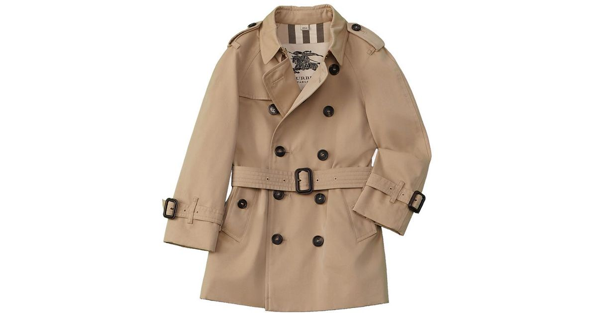 1eaf8c051bed9 Lyst - Burberry Boys  The Wiltshire Trench Coat in Natural