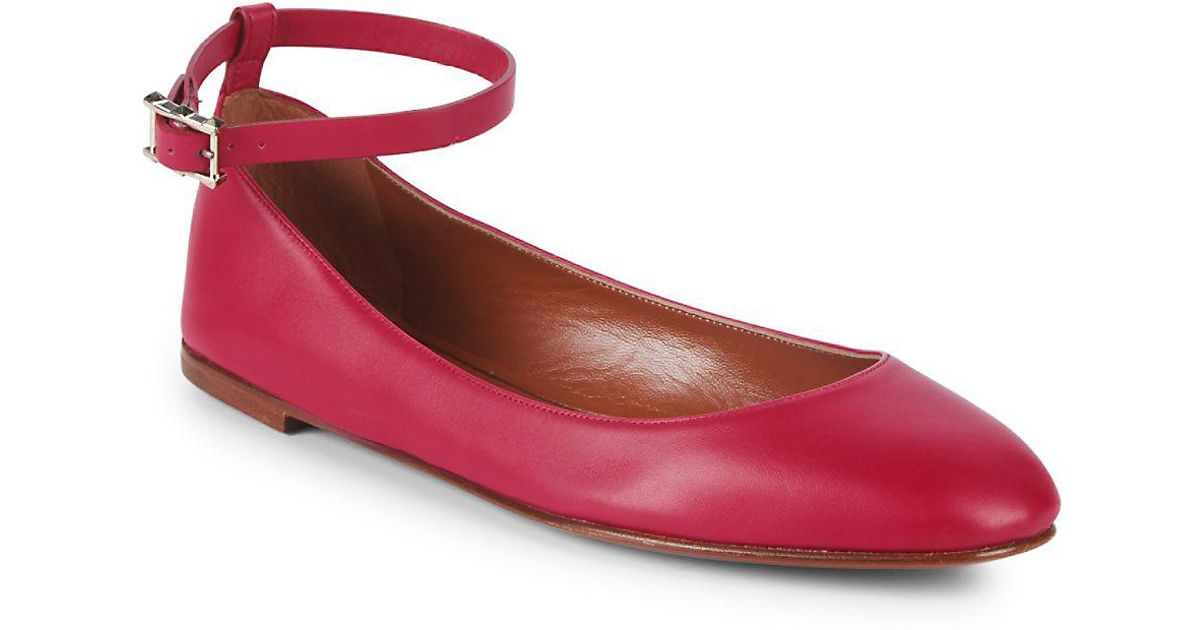 e8ffa68f3a0 Lyst - Valentino Classic Leather Ballet Flats in Red