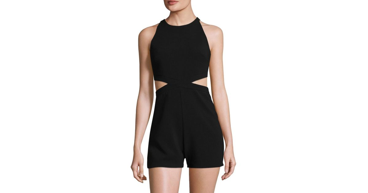 3e11153c755a8 Lyst - Likely Encino Solid Romper in Black
