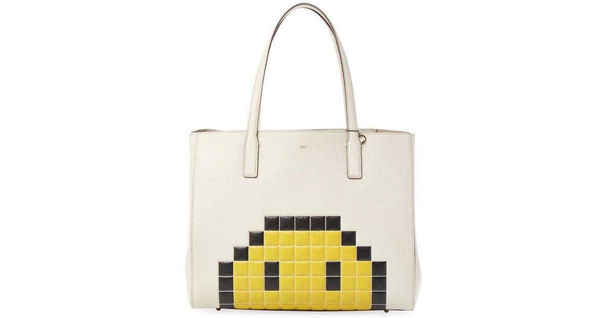 cdd540546778 Lyst - Anya Hindmarch Ebury Pixel Smiley Shopper Bag
