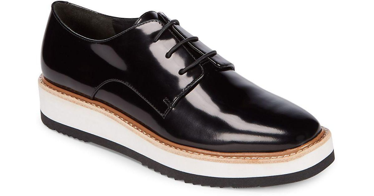 Lyst - Vince Reed Patent Leather Platform Shoes in Black for Men 5f94b174f
