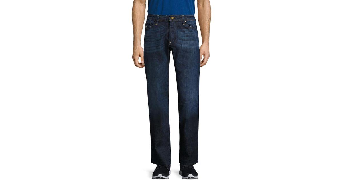 63fbf7b338f8 Lyst - Diesel Viker L.34 Straight Fit Cotton Jeans in Blue for Men