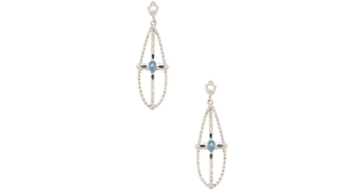 Armenta New World Two-Tone Hoop Earrings with Champagne Diamonds kDbz3ccEW