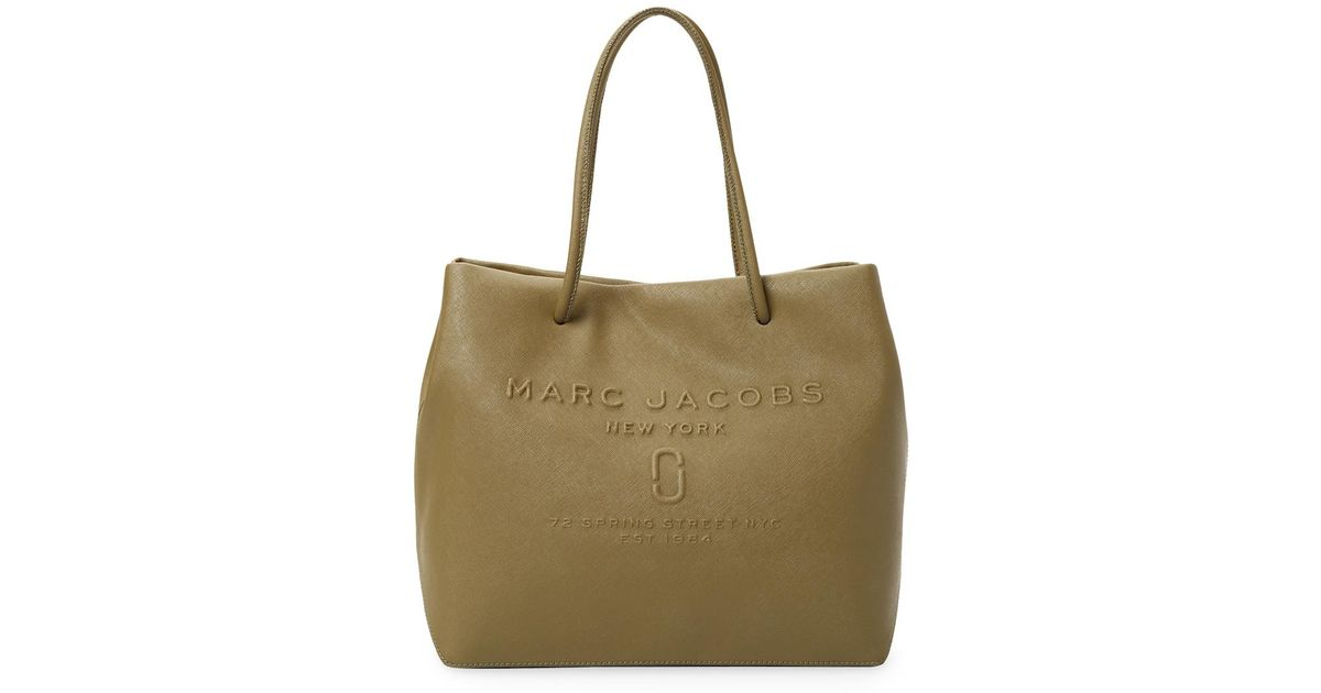 Leather tote bag with embossed logo PVVack6pe