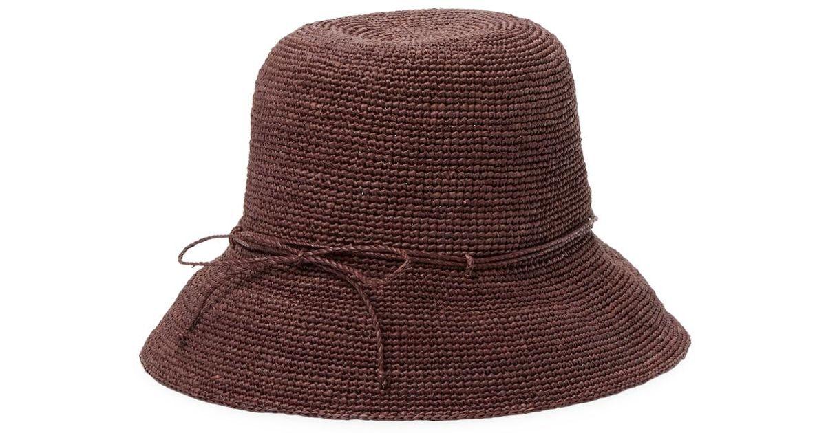 b957a59f0902c Lyst - Helen Kaminski Provence 8 Bucket Hat in Brown