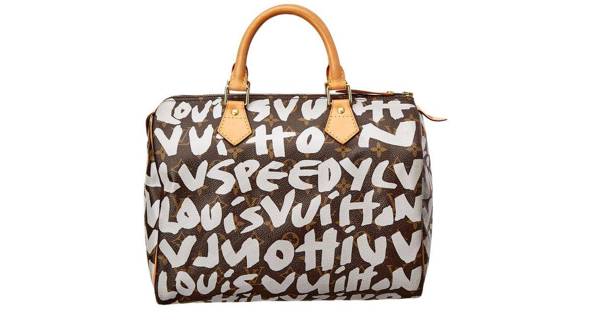 eba642ff7853 Louis Vuitton Limited Edition Stephen Sprouse Grey Graffiti Monogram Canvas  Speedy 30 - Lyst