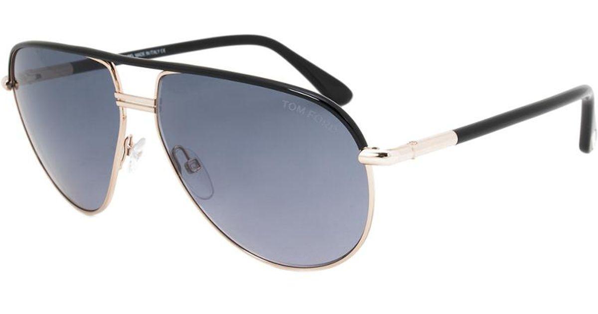 05af7e13a5 Tom Ford Unisex Cole Aviator Sunglasses Ft0285 01b 61 61mm Sunglasses - Lyst