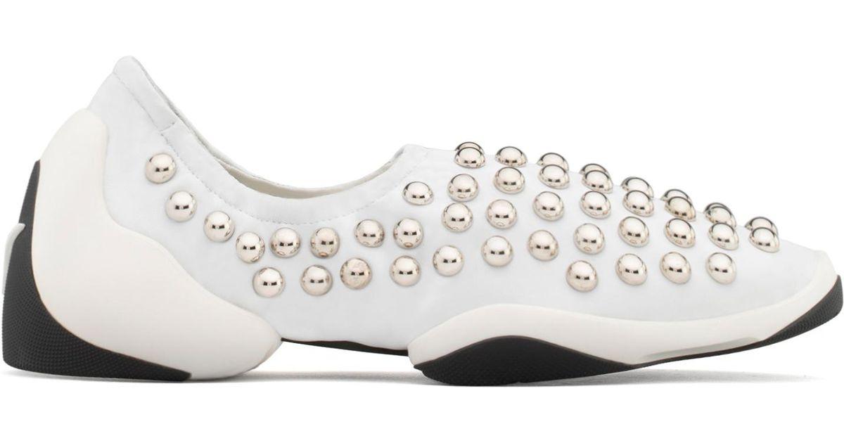 Giuseppe Zanotti Nappa slip-on sneaker with studs JUMP STUDS 1XqkNSf
