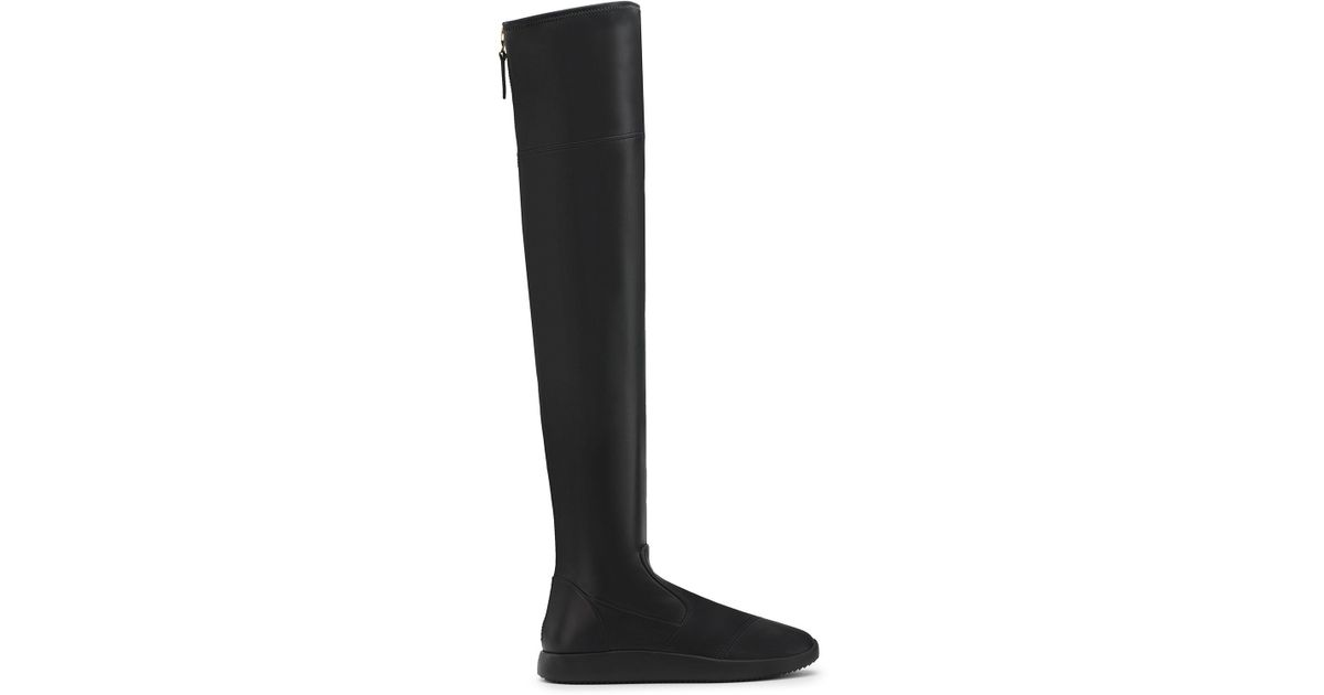 Giuseppe Zanotti Suede cuissard boot with faux fur inside MACIE HIGH HdEte0