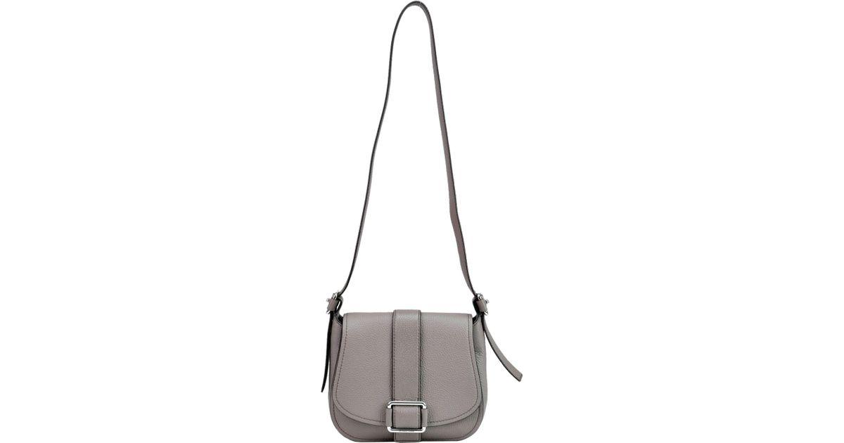 12bc87dd3218 Lyst - MICHAEL Michael Kors Maxine Saddle Bag in Gray