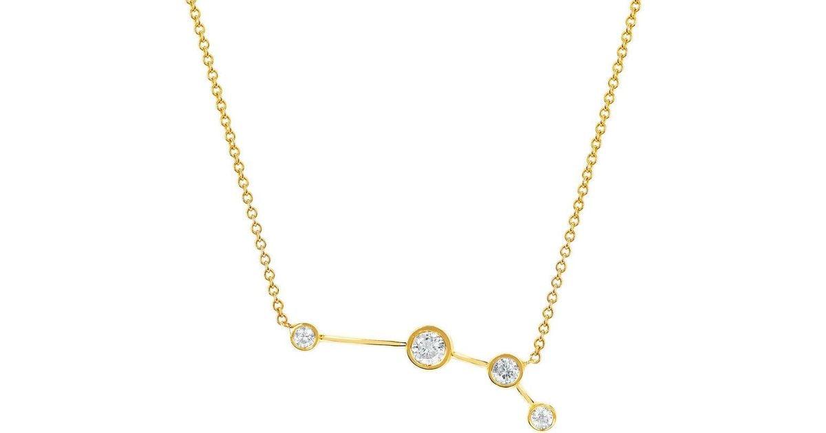 547a373a3feb Lyst - Logan Hollowell Aries Diamond Constellation Necklace