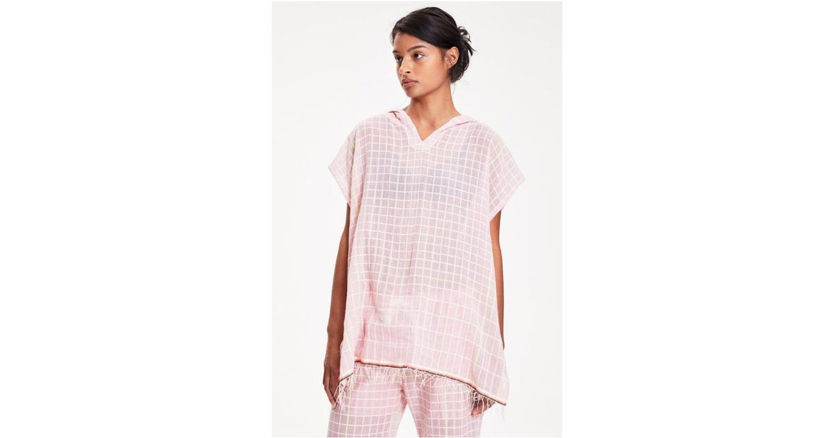 ec3a252391e0 Lyst - Lemlem Anan Hood Cover-up in Pink