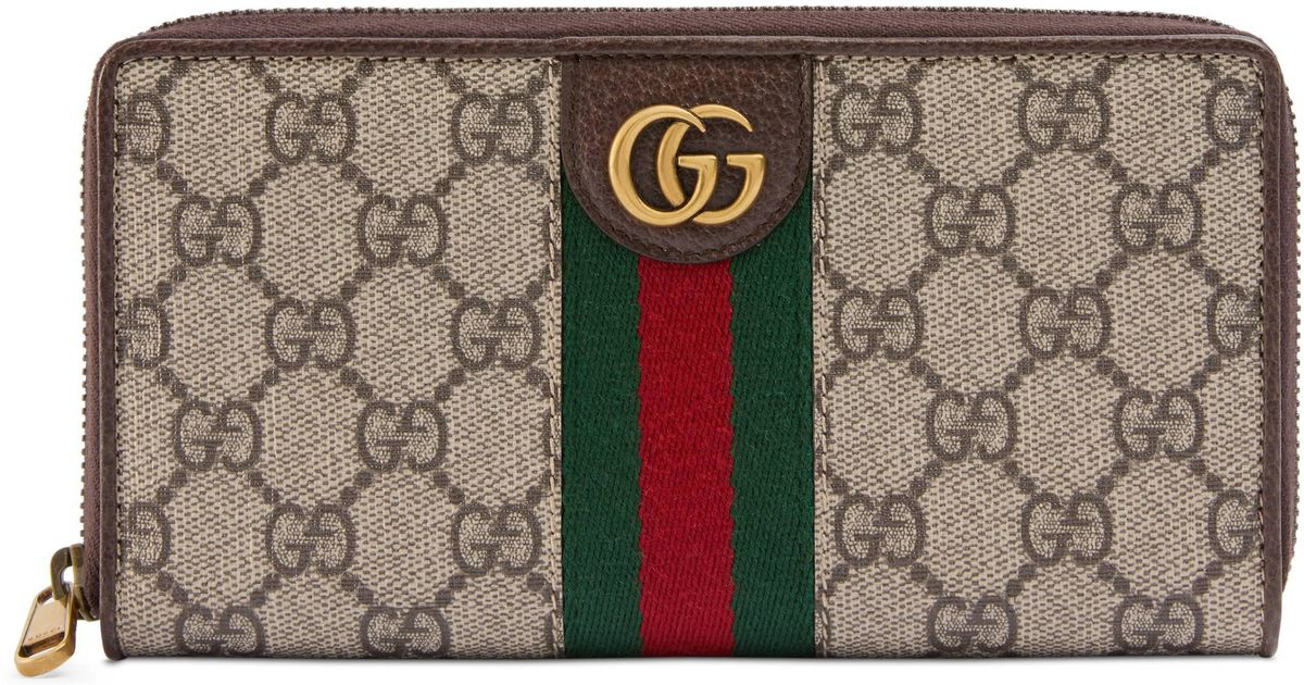 b26b3a625c0060 Gucci Zip Around Wallet With Three Little Pigs in Natural for Men - Lyst