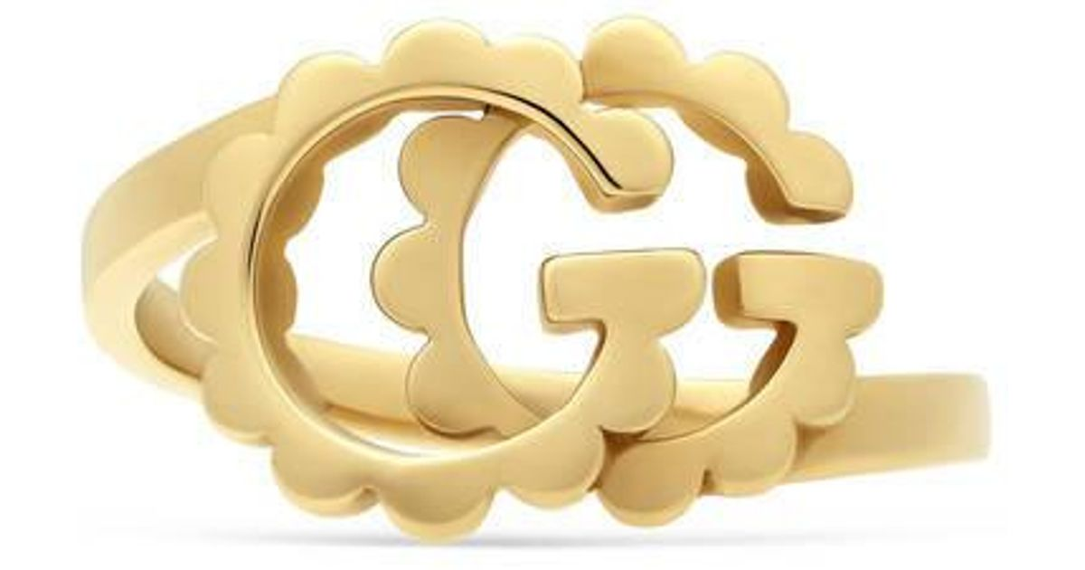 28876db07 Gucci Gg Running Yellow Gold Ring in Metallic - Lyst