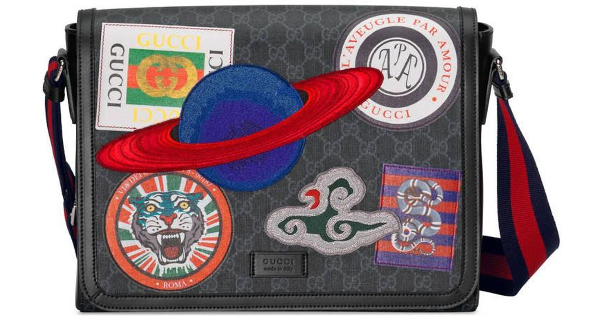 27a383ac60ecce Gucci Night Courier Gg Supreme Flap Messenger for Men - Lyst