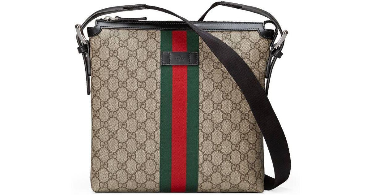Lyst - Sac à bandoulière Suprême GG Gucci pour homme 61bf47a42da