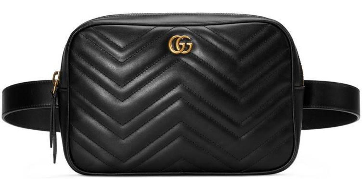 0367e20fd Gucci GG Marmont Matelassé Belt Bag in Black for Men - Save 14% - Lyst