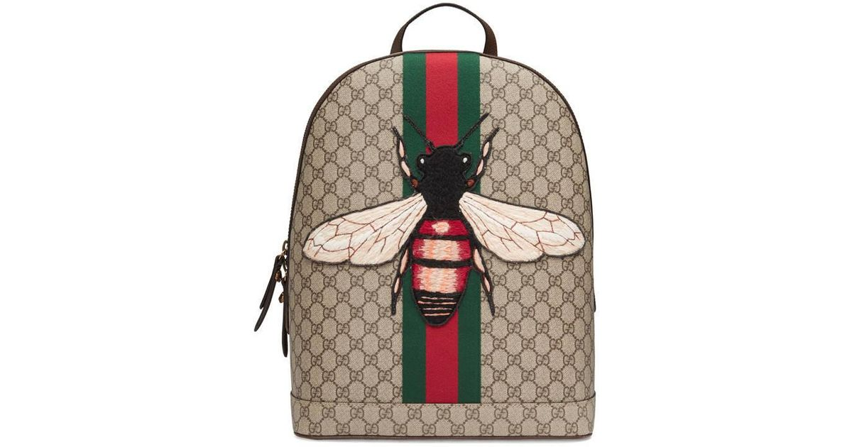 c46da7d9d12e94 Gucci Web Animalier Backpack With Bee - Lyst