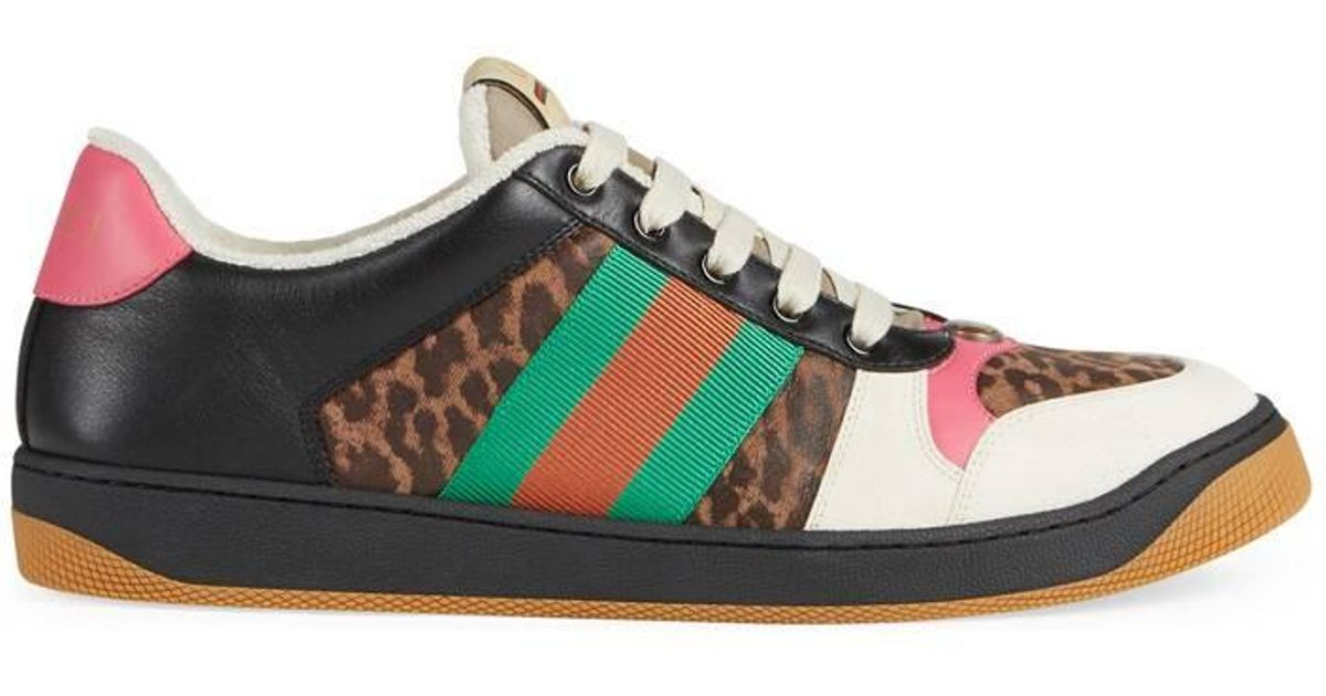 bc462137a92 Gucci Online Exclusive Men's Screener Leopard Print Sneaker in Natural for  Men - Lyst