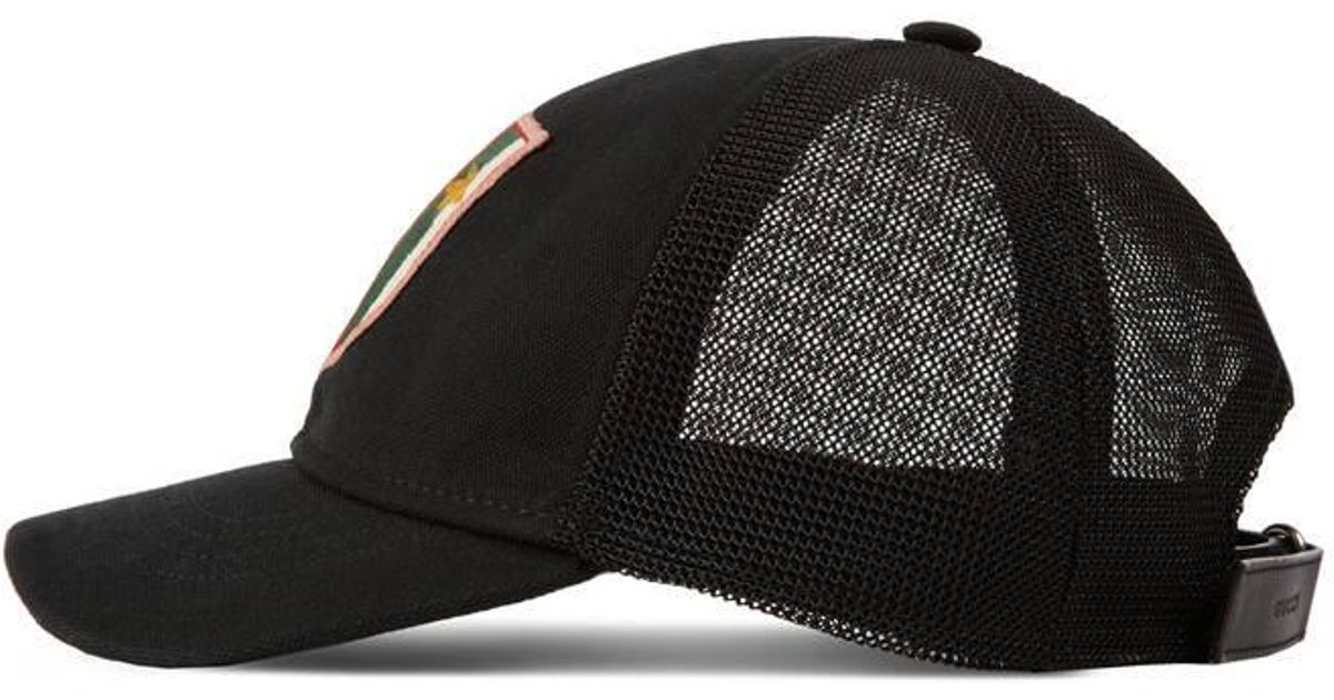 1f9c5e4d Gucci Canvas Hat With Web Crest And Bees in Black for Men - Lyst