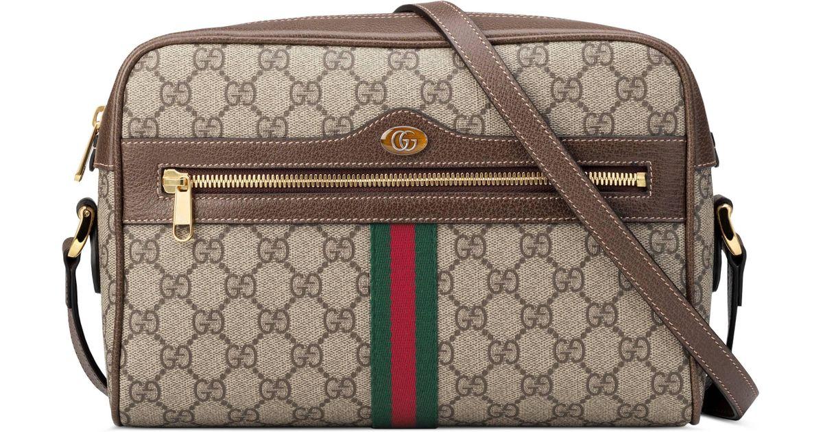 7a0c373a43e Lyst - Sac à épaule Ophidia GG Supreme petite taille Gucci en coloris Neutre