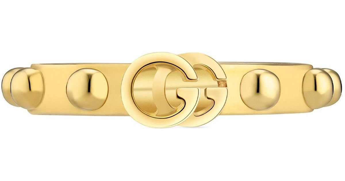 d4fd396437 Gucci Metallic GG Running Ring In Yellow Gold
