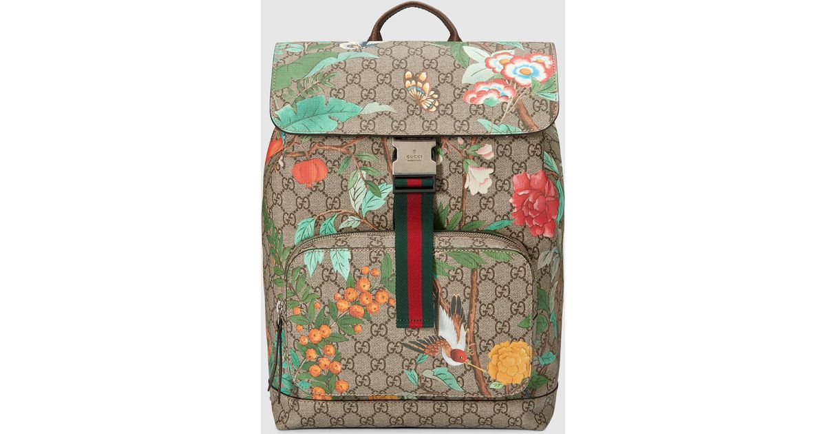 16341ee41325 Gucci Tian Gg Supreme Backpack - Lyst