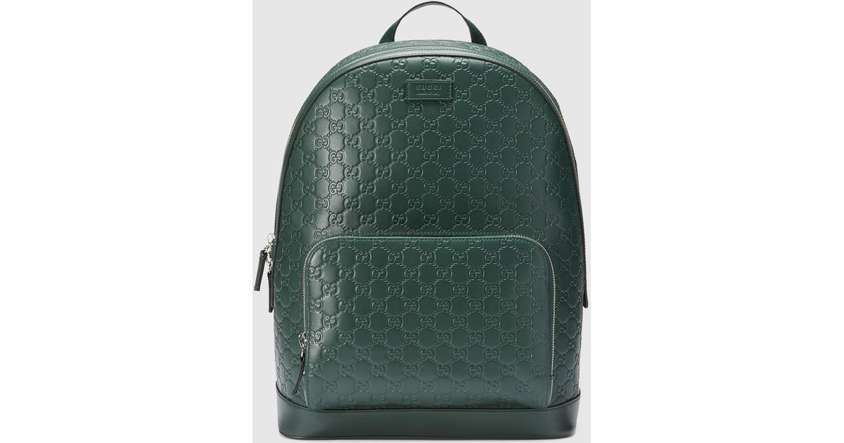 d0736430fcd9 Lyst - Gucci Signature Leather Backpack in Green