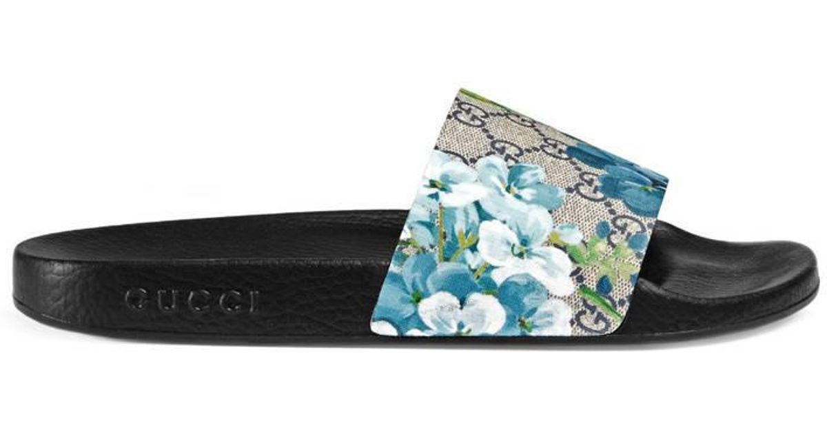 7997306313b Gucci Gg Blooms Sandal in Blue for Men - Lyst