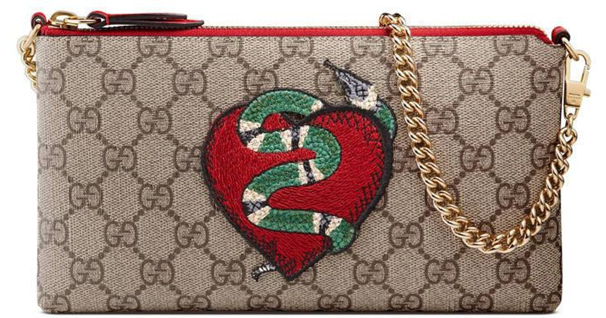 ad65868acde922 Gucci Limited Edition Wrist Wallet in Natural - Lyst