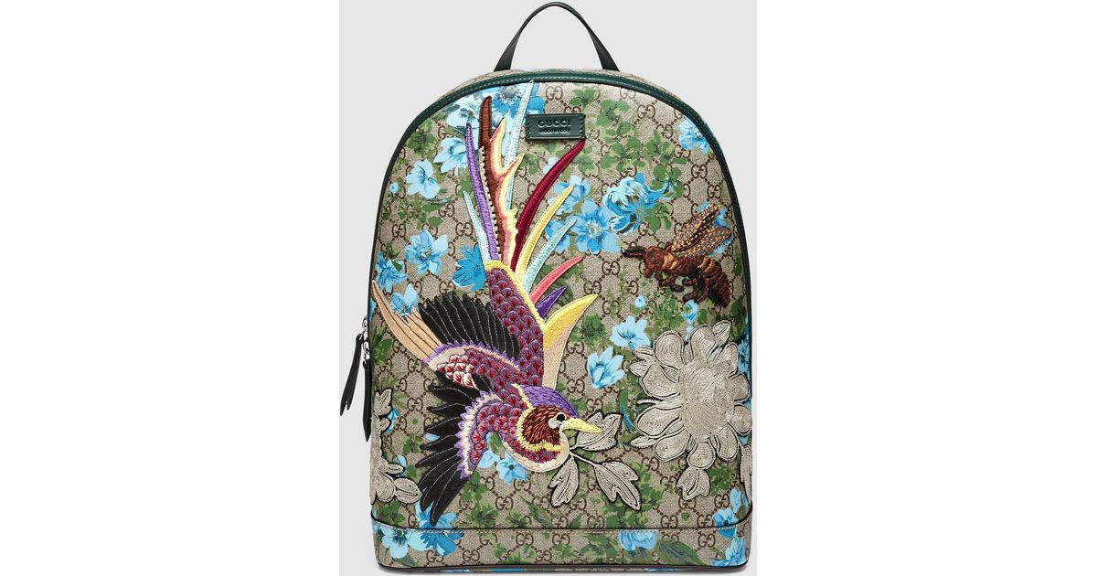 7947e67ef963 Gucci Xl Gg Floral Print Backpack for Men - Lyst
