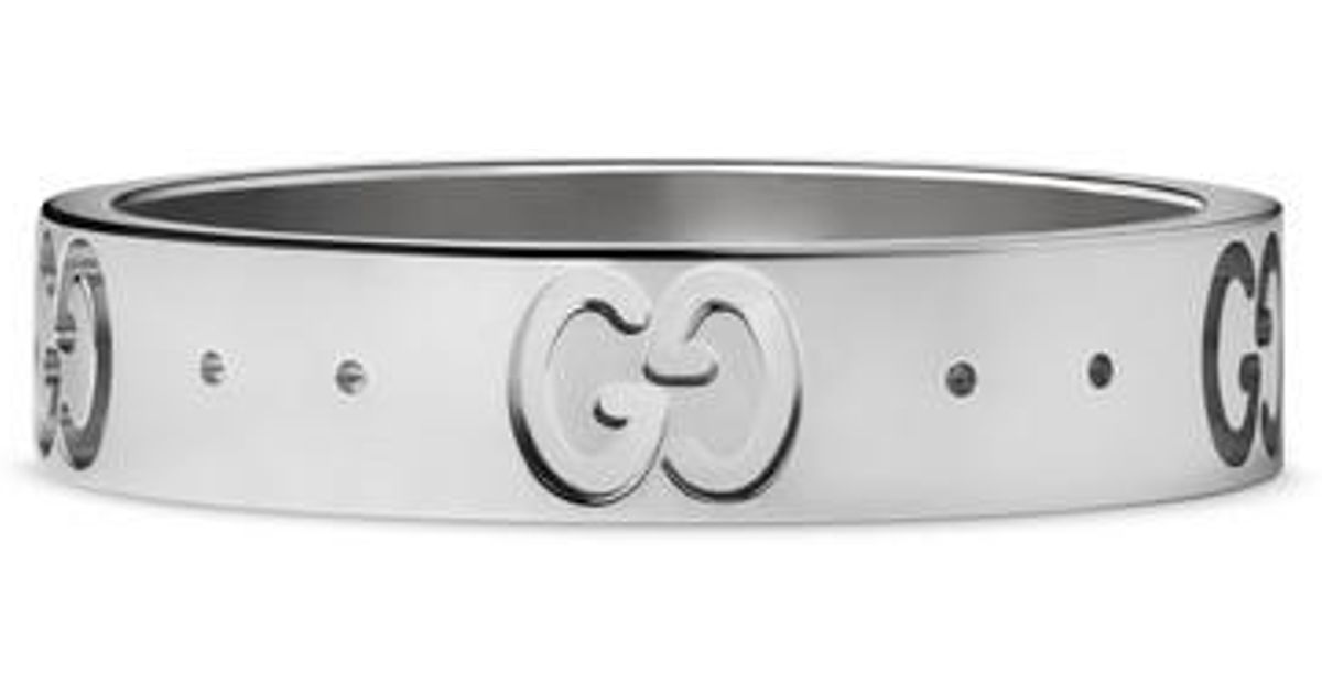 ccd19e54a78aad Lyst - Gucci Icon Thin Band in White
