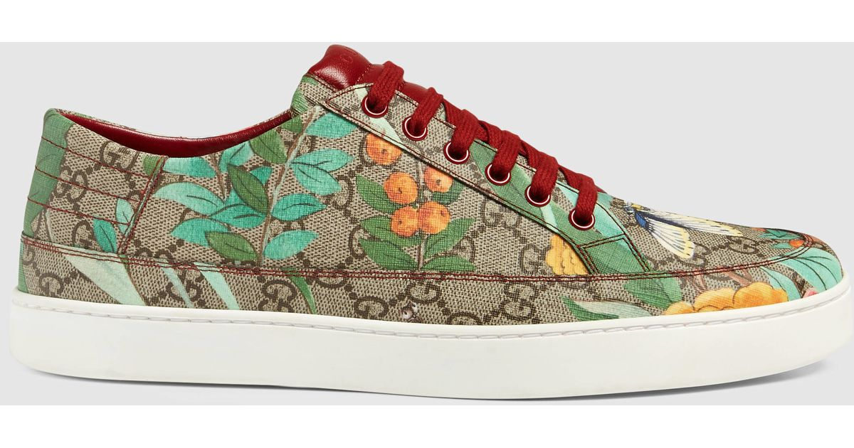 a0bb1801f287 Lyst - Gucci Men s Tian Low-top Sneaker in Brown for Men