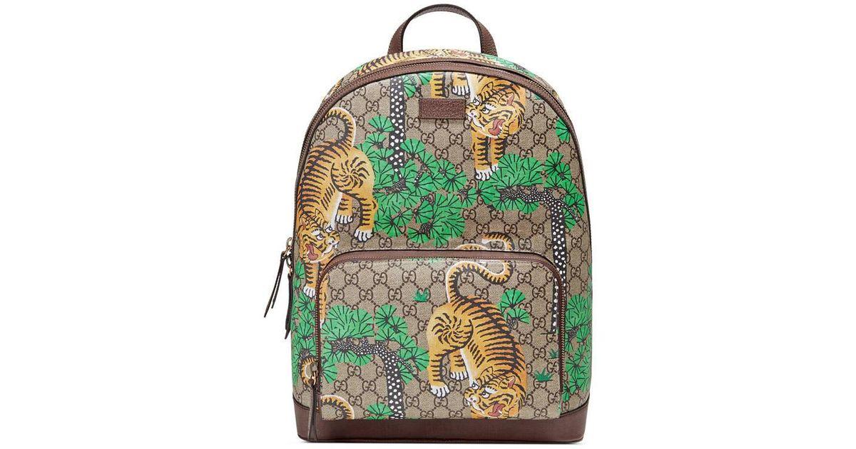 0b5e9388e943 Gucci Tiger Cub Backpack in Natural - Lyst