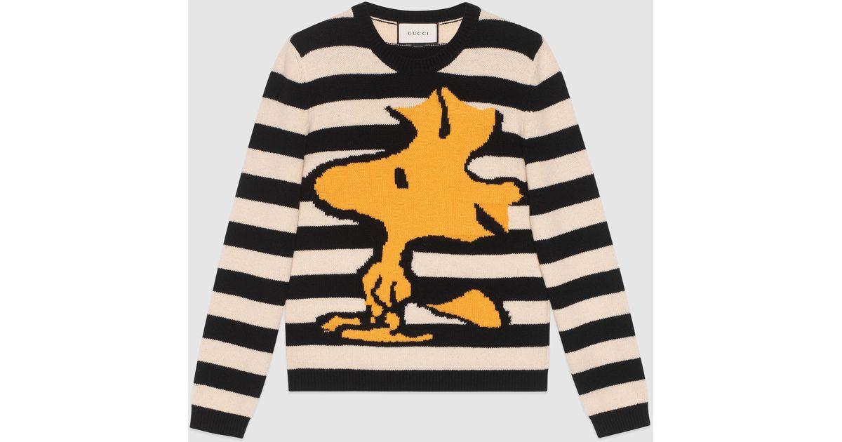 Lyst Gucci Striped Wool Woodstock Sweater In Black For Men