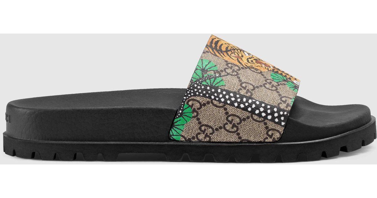 f8b7be63901d Lyst - Gucci Bengal Slide Sandal