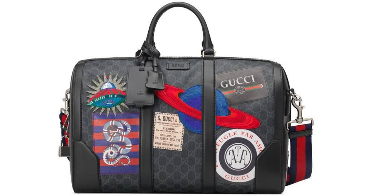 Lyst - Gucci Night Courrier Soft Gg Supreme Carry-on Duffle in Red for Men 1d80bb2e83738