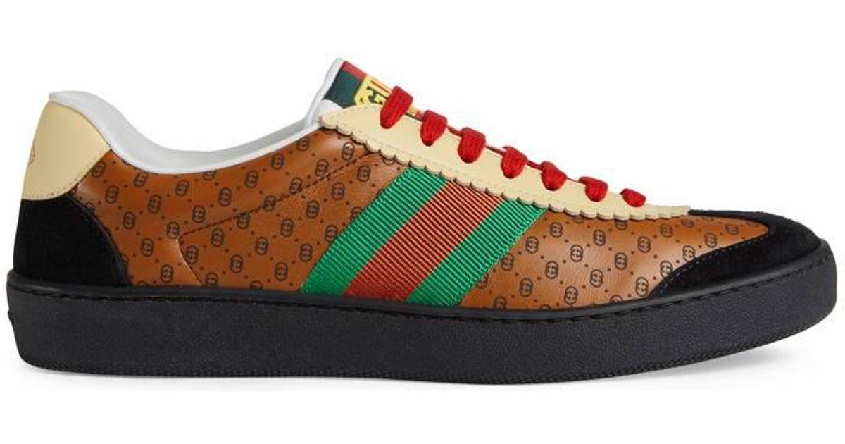 445c6c6593a Lyst - Gucci Women s -dapper Dan G74 Sneaker in Brown