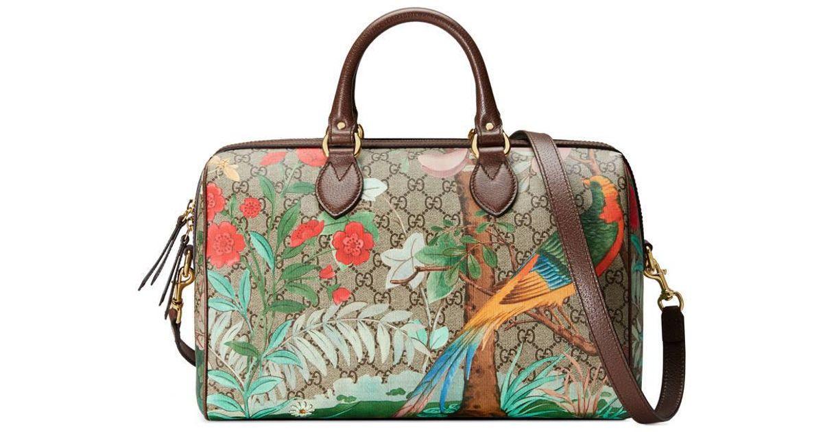 017db728a74 Lyst - Gucci Tian Gg Supreme Boston Bag